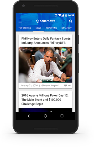 PokerNews Mobile App screen Android